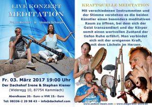 Live Konzert Meditation @ Der Dachshof | Kammlach | Bayern | Deutschland