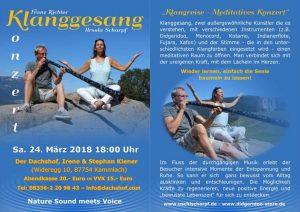 Klanggesang Live Konzert Meditation @ Der Dachshof | Kammlach | Bayern | Deutschland