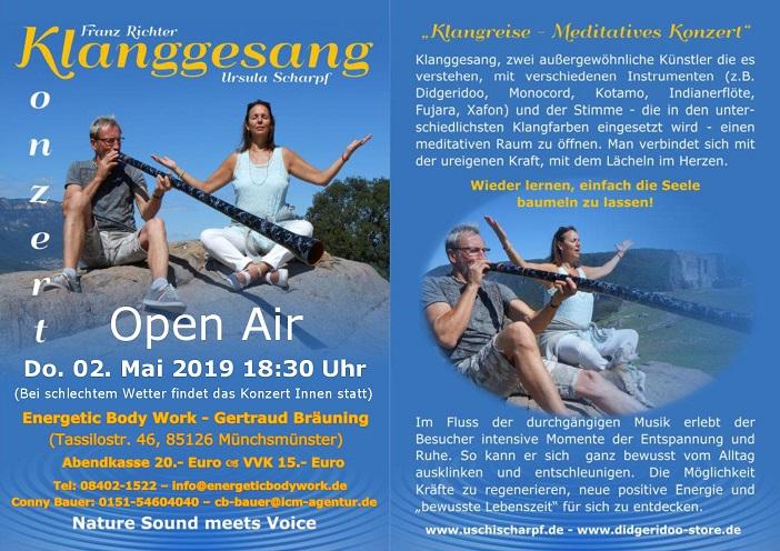 Klanggesang Live Konzert Open Air @ Energetic Body Work | Münchsmünster | Bayern | Deutschland