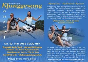 Klanggesang Live Konzert Meditation @ Energetic Body Work | Münchsmünster | Bayern | Deutschland