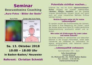 Aura-Seminar mit Christian Schmidt in Baden-Baden @ Baden-Baden / Neuweier | Baden-Baden | Baden-Württemberg | Deutschland