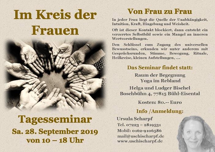 """""""Im Kreis der Frauen"""" @ Raum der Begegnung Yoga im Rebland Helga und Ludger Bischel   Ingolstadt   Bayern   Deutschland"""